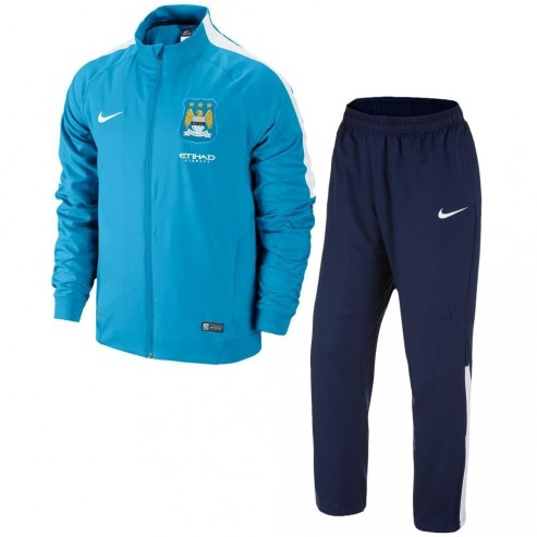 Manchester City Nike Woven Tracksuit Blue