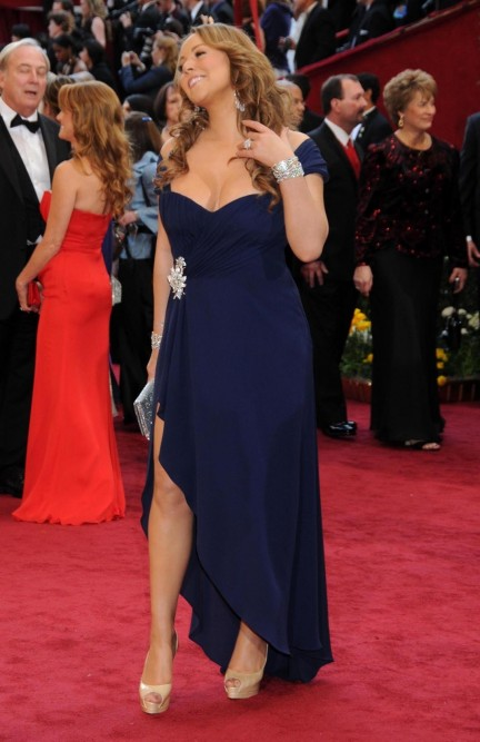 Mariah Carey Blue Dress Academy Awards Dress