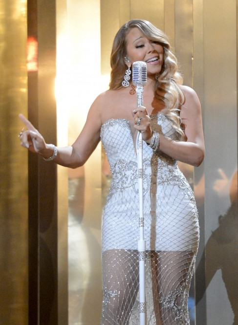 Mariah Carey In Short Dress At Bet Awards Dress