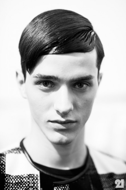 Le Eme Adam Katz Sinding Backstage At Neil Barrett Spring Summer Milan Italy Aks