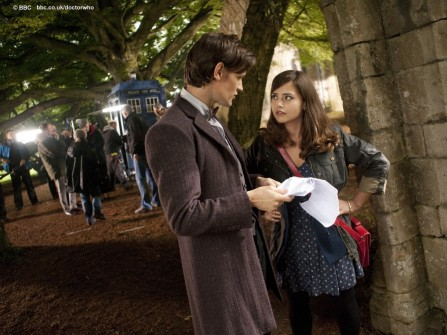 Matt Smith And Jenna Louise Coleman In Doctor Who