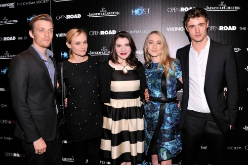 Diane Kruger Saoirse Ronan Max Irons Jake Abel And Stephenie Meyer At Event Of The Host Large Picture