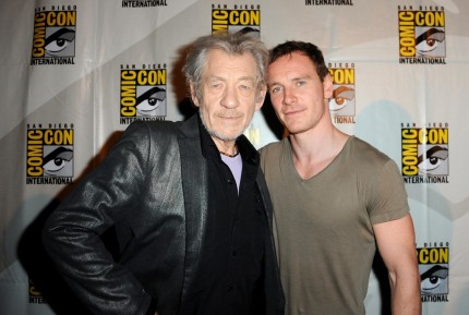 Ian Mckellen And Michael Fassbender At Event Of Men Days Of Future Past Large Picture