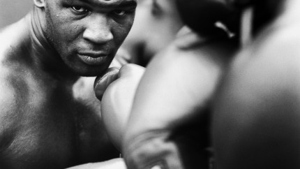 White Gloves Stare Boxing Mike Tyson Knockout Knockout