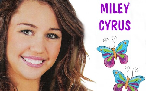 Smile Miley Cyrus And Butterfly Wallpaper Image Wallpaper