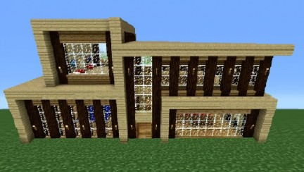 Minecraft Modern House Tutorial Step By Step Image Houses