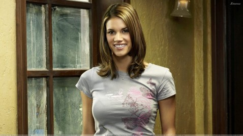 Missy Peregrym Smiling Front Pose In Reaper Tattoo
