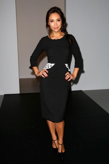 Myleene Klass At Autumn Winter London Fashion Week