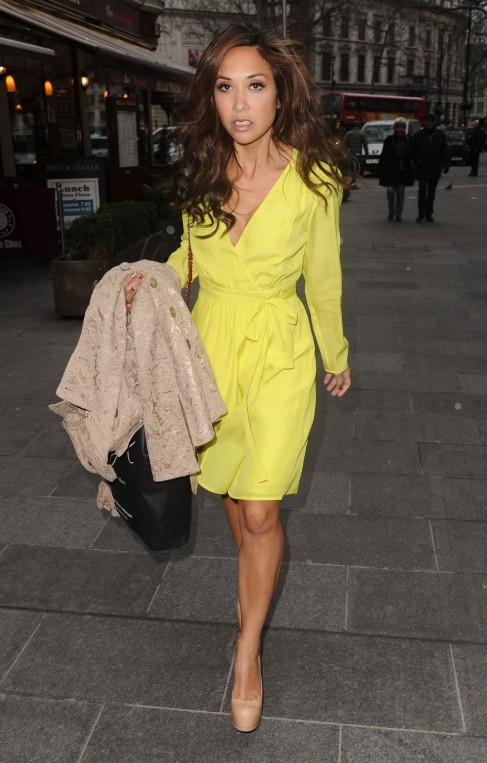 Myleene Klass Out About In London