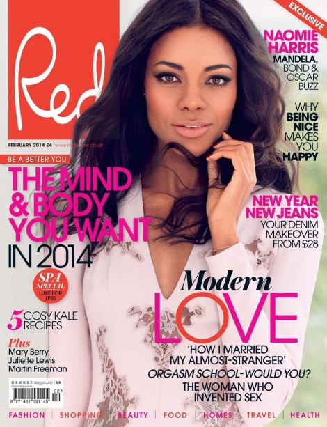 Naomie Harris By Max Abadian For Red Magazine February Fashion