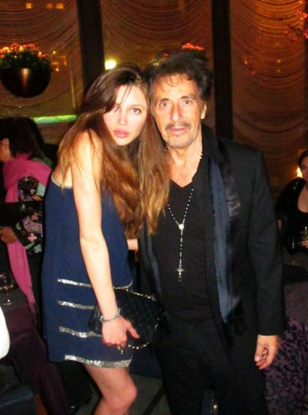 Natalie Gal Pictured With Al Pacino At The Nyc Premiere Of Al Pacino New Tv Series Large Picture Tv