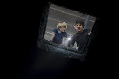 Still Of Chris Massoglia And Nathan Gamble In The Hole Large Picture