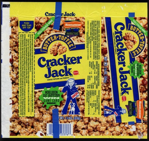 Cc Borden Cracker Jack Butter Toffee Nickelodeon Game Card Package Wrapper