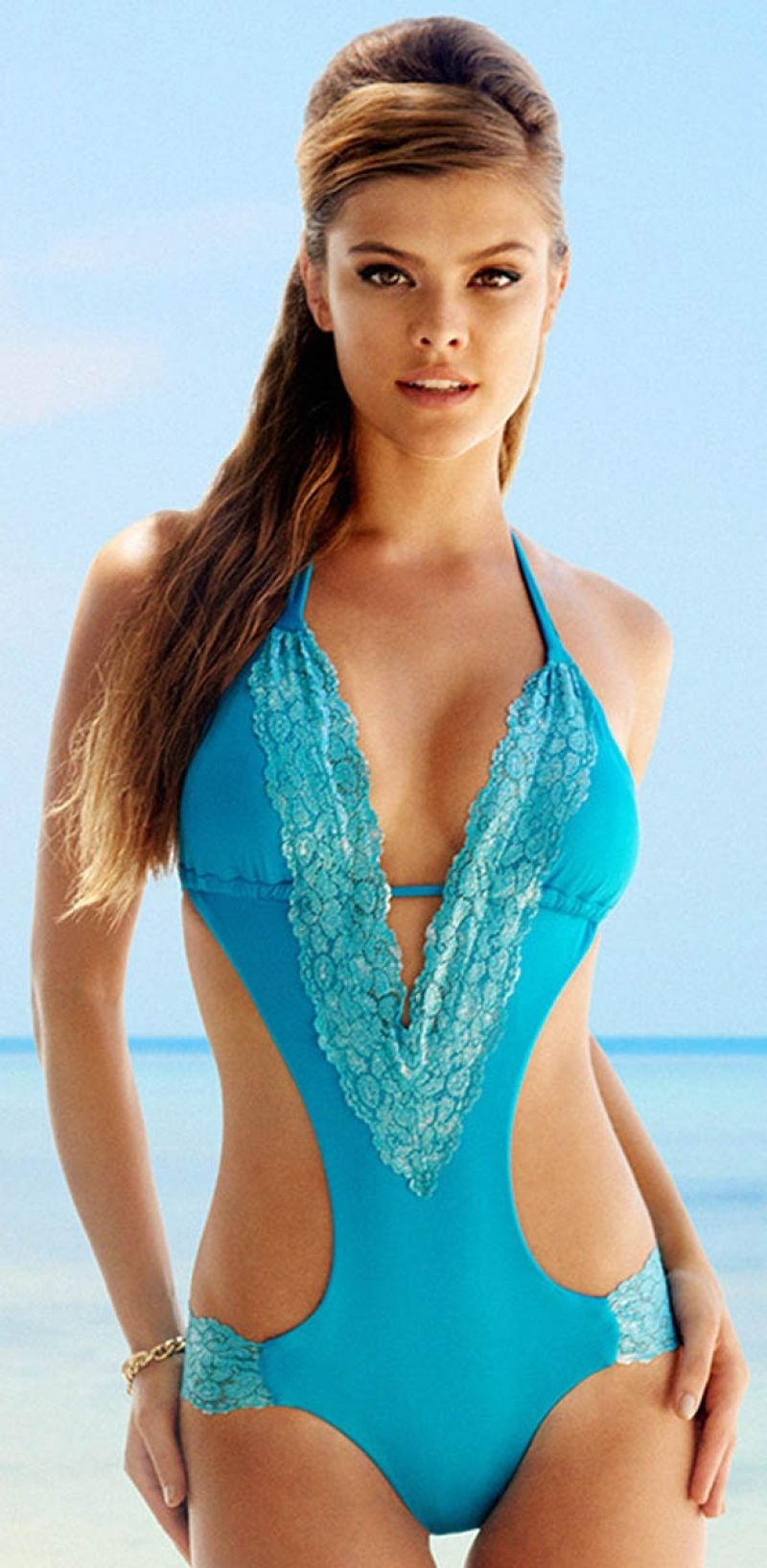 Nina Agdal Beach Bunny Swimsuit October