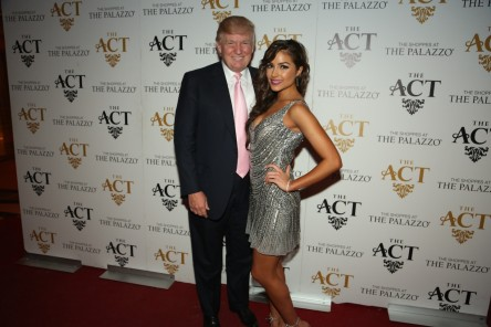 Donald Trump And Olivia Culpo On The Red Carpet At The Act No Makeup