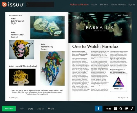 Article Eile Magazine Parralox One To Watch
