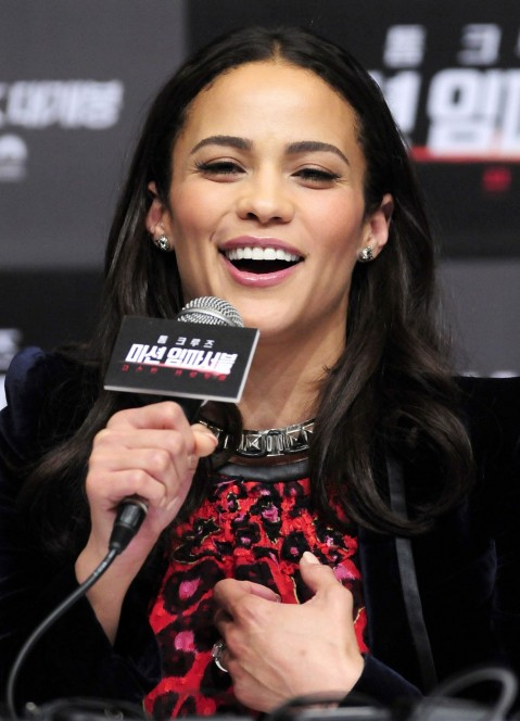 Paula Patton At Mission Impossible Ghost Protocol Premiere In Seoul South Korea Mission Impossible