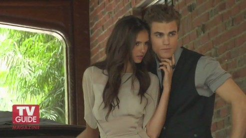 Tv Guide Photoshoot Behind The Scenes Paul Wesley And Nina Dobrev Tv