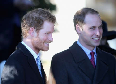Prince William Prince Harry Stood Together Before Christmas Day Services
