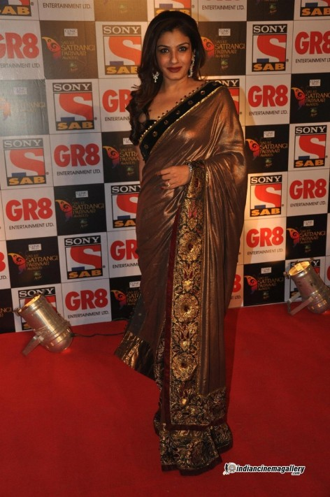 Raveena Tandon At Sab Ke Satrangi Pariwar Awards