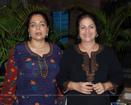 Tv Actress Reema Lagoo With Friend At The Success Bash Of Mara