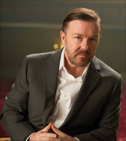 Ricky Gervais In Suit Grey