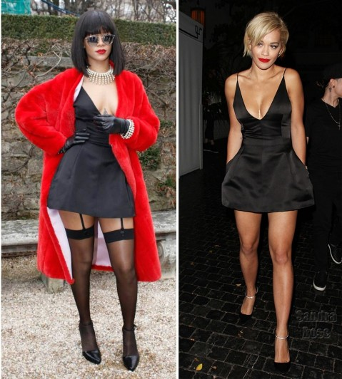Rihanna Rita Ora In Christian Dior And Rihanna