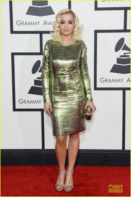 Rita Ora Grammys Red Carpet