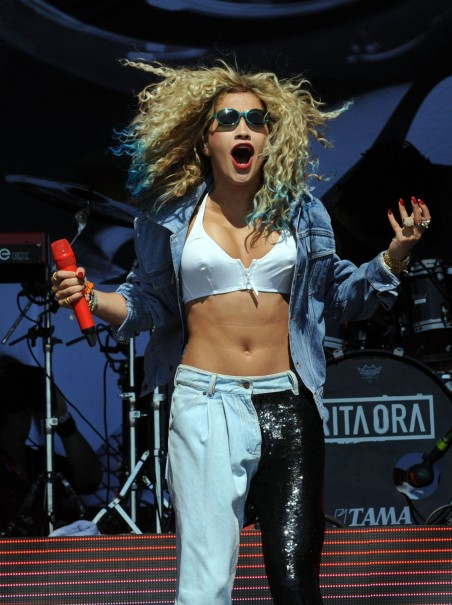 Rita Ora Performing At The Park Festival In Scotland