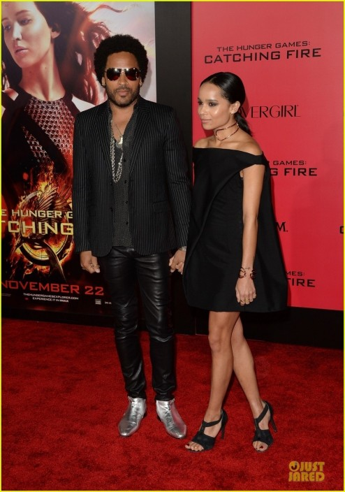 Sam Claflin Zoe Kravitz Catching Fire La Premiere Films