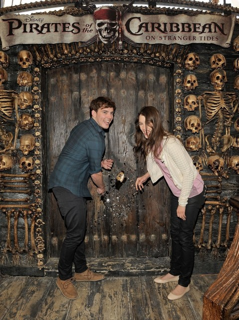 With Astrid Berges Frisbey Sam Claflin Photoshoot