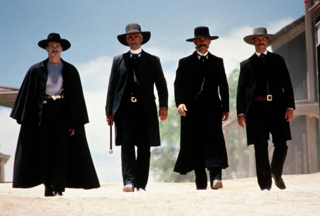 Picture Of Val Kilmer Bill Paxton Sam Elliott And Kurt Russell In Tombstone Large Picture Wallpaper