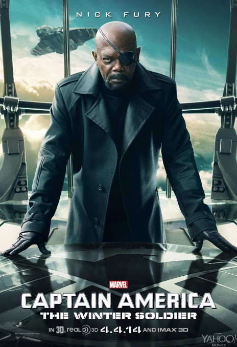 Captain America The Winter Soldier Samuel Jackson Poster Young