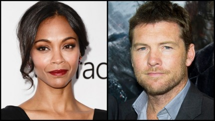 Zoe Saldana Sam Worthington