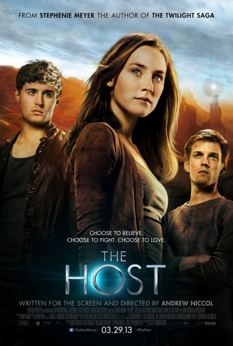 The Host Movie Poster Saoirse Ronan Max Irons Jake Abel The Host