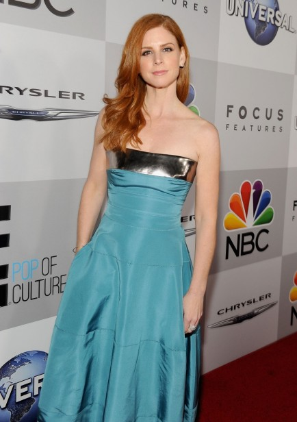 Sarah Rafferty At Nbc Universal Golden Globe Aster Party