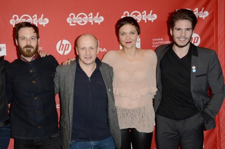 Maggie Gyllenhaal Lenny Abrahamson Scoot Mcnairy And Fran Ois Civil At Event Of Frank Large Picture