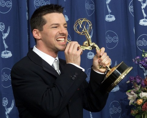 Sean Hayes Chomped His Statue
