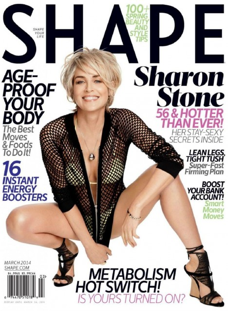 Sharon Stone In Sshape Magazine March Issue
