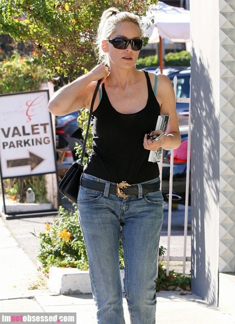 Sharon Stone Out About In Weho