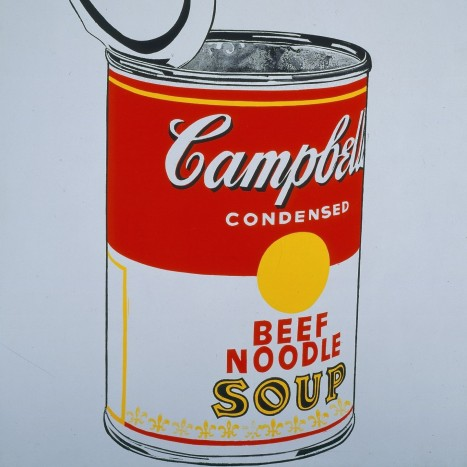 Andy Warhol Big Campbells Soup Can Tin