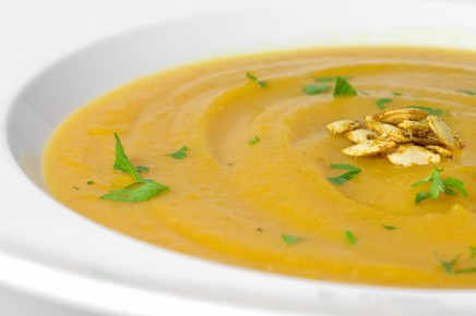 Butternut Squash Soup Curried Squash Seeds
