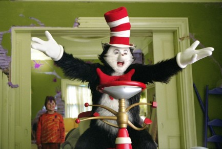 Picture Of Mike Myers And Spencer Breslin In Dr Seuss The Cat In The Hat Large Picture