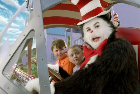 Picture Of Mike Myers Spencer Breslin And Dakota Fanning In Dr Seuss The Cat In The Hat Large Picture