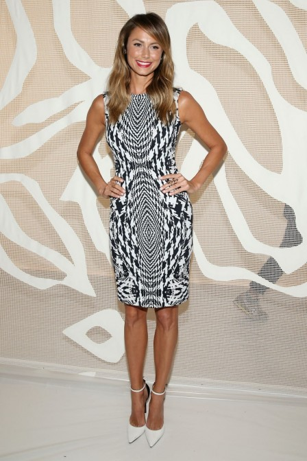 Stacy Keibler At Monique Lhuillier Spring Fashion Show In New York