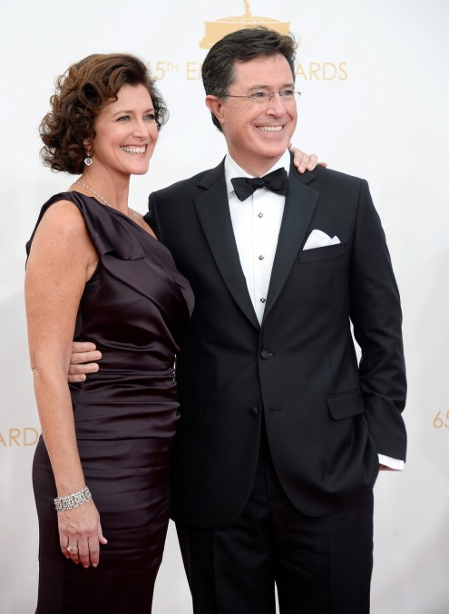Stephen Colbert His Wife Evelyn Walked Emmys Red Carpet Together