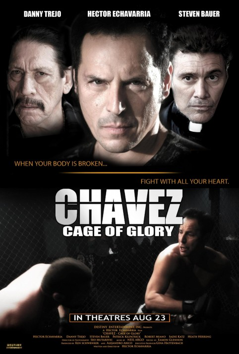 Steven Bauer Danny Trejo And Hector Echavarria In Chavez Cage Of Glory Large Picture