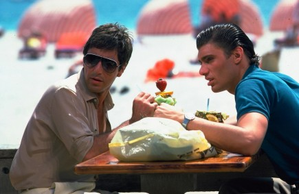 Still Of Al Pacino And Steven Bauer In Scarface Large Picture