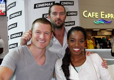 Sullivan Stapleton Philip Winchester And Milauna Jackson In Strike Back Large Picture