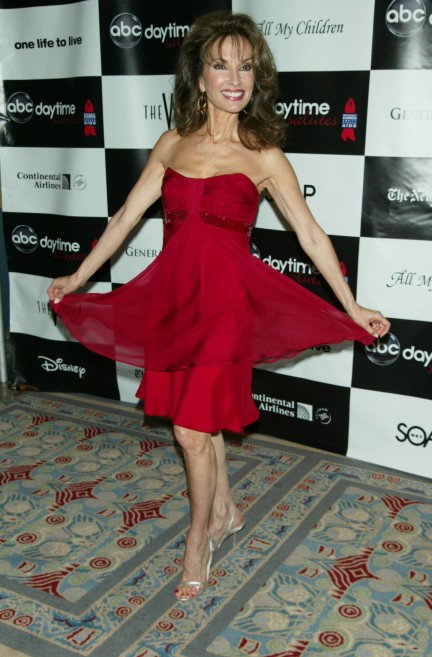 Susan Lucci Abc Daytime Salute Broadway Cares Reception Red Dress Susan Lucci Abc Daytime Salute Broadway Cares Reception